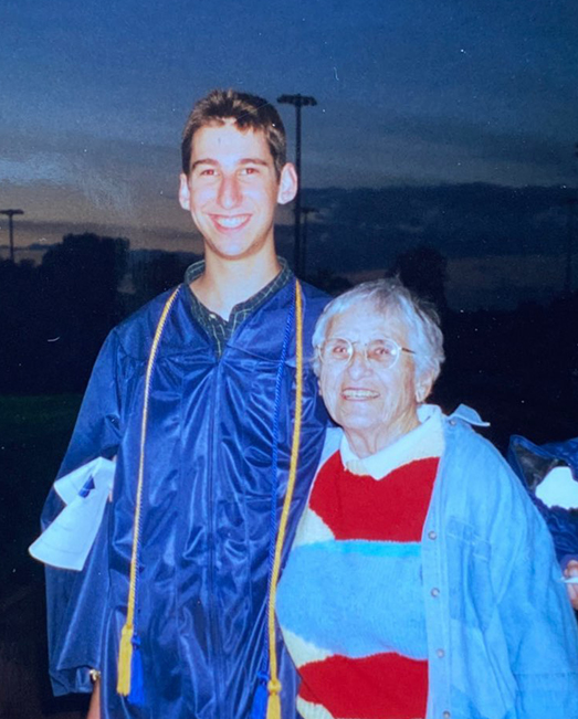 Noah Riseman and his grandmother