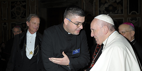 Father with Pope