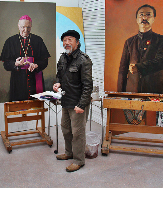Jiawei in his studio tile